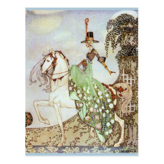 Princess and Her White Horse Postcard