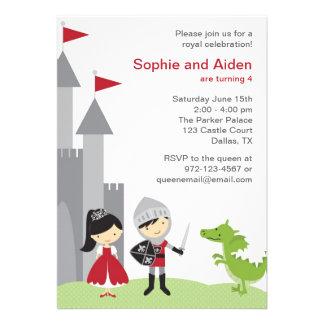 Princess and Knight Birthday Invitations Invites