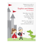 Princess and Knight Birthday Invitations Invitations
