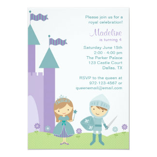 Princess and Knight Invitations Announcement