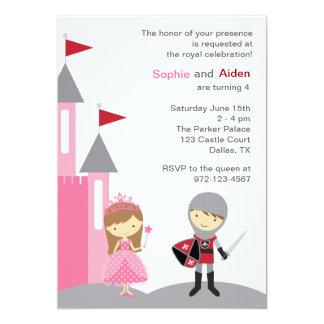 Princess and Knight Invitations Custom Invitation