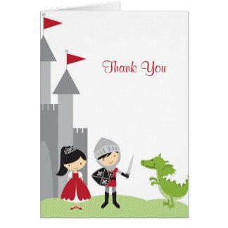 Princess and Knight Note Card Greeting Card
