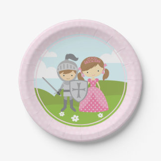 Princess and Knight party plates