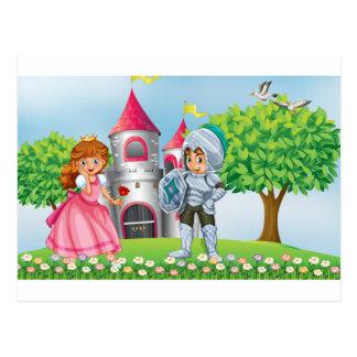 Princess and knight postcard