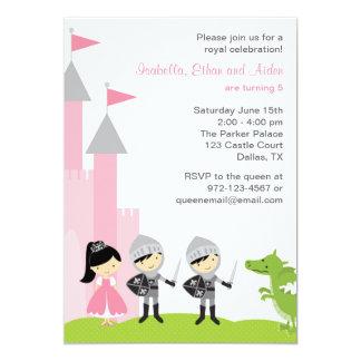 Princess and Knights Birthday Invitations