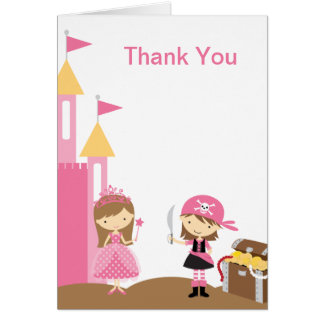 Princess and Pink Pirate Note Cards