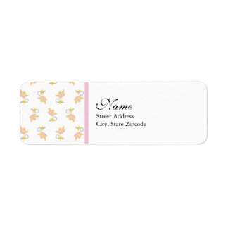 Princess and Rattle Return Address Label