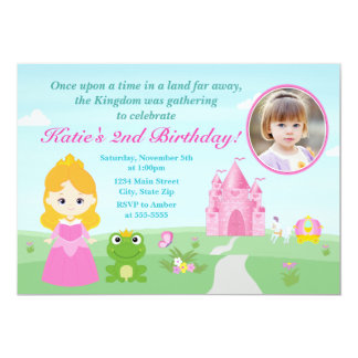 Princess And The Frog Birthday Invitation Blonde