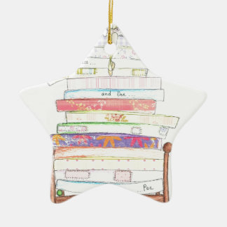 princess and the pea ceramic star decoration
