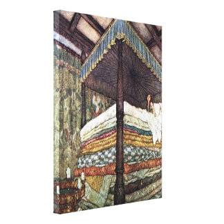 Princess and the Pea Fairy Tale Stretched Canvas Print