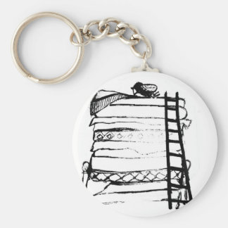 Princess and the pea key ring