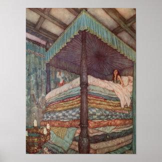 Princess and the Pea Poster Rackham Fairytale