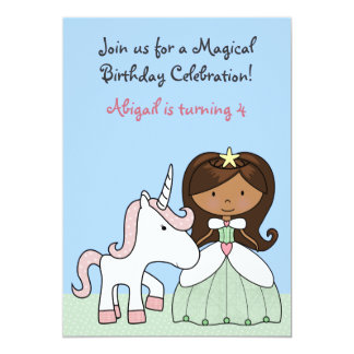 Princess and Unicorn Birthday Invitation