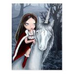 Princess and Unicorn Postcard