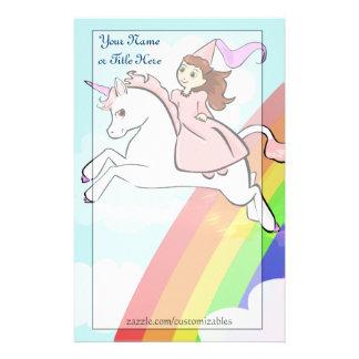Princess and Unicorn Stationery
