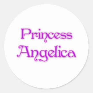 Princess Angelica Round Stickers