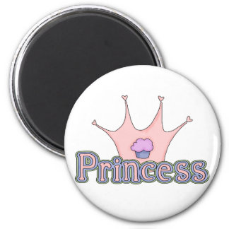 Princess Baby Girl 6 Cm Round Magnet