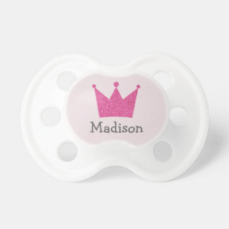 Princess Baby Pacifier - Crown Pink Glitter