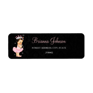 Princess Baby Shower Address Label