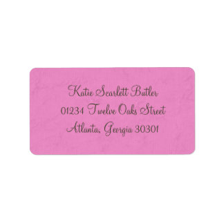 Princess Baby Shower Address Label