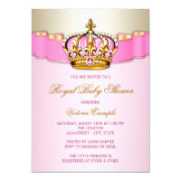 Princess Baby Shower Card