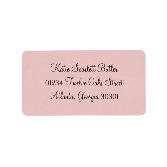 Princess Baby Shower Label