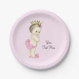 Princess Baby Shower Paper Plate