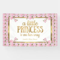 Princess Baby Shower Pink Gold Rose Floral
