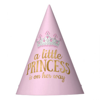 Princess Baby Shower Pink Gold Silver Tiara Party Party Hat