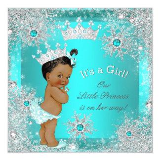 Princess Baby Shower Winter Wonderland Ethnic 13 Cm X 13 Cm Square Invitation Card