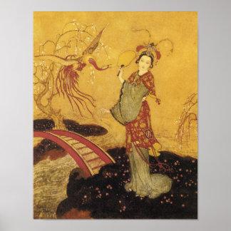 Princess Badoura by Edmund Dulac Poster