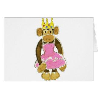 princess ballerina monkey greeting cards