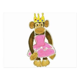 princess ballerina monkey postcard