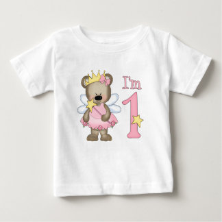 Princess Bear 1st Birthday Baby T-Shirt