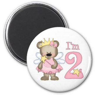 Princess Bear 2nd Birthday 6 Cm Round Magnet