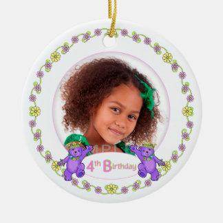 Princess Bears 4th Birthday Photo Keepsake Christmas Ornament