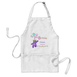 Princess Bears 7th Birthday Custom Name Standard Apron