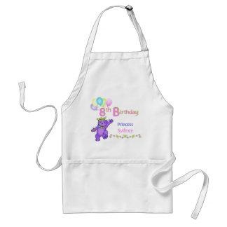 Princess Bears 8th Birthday Custom Name Standard Apron