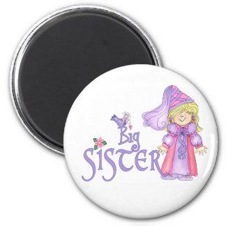 Princess Big Sister 6 Cm Round Magnet