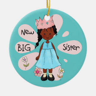 Princess Big Sister African American Christmas Ornament