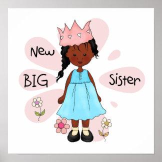 Princess Big Sister African American Poster
