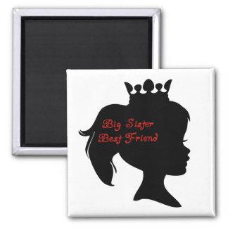 Princess Big Sister Best Friend Magnets
