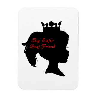 Princess Big Sister Best Friend Rectangle Magnet