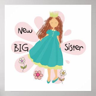 Princess Big Sister Brown Hair Poster