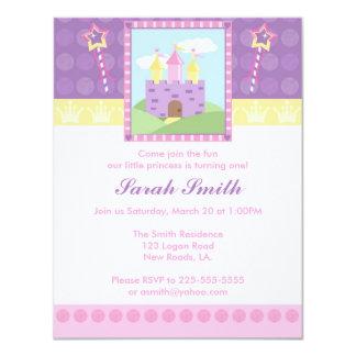 Princess Birthday 11 Cm X 14 Cm Invitation Card