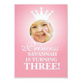 Princess Birthday 13 Cm X 18 Cm Invitation Card