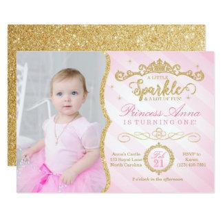 Princess Birthday Invitation Pink & Gold