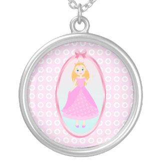 Princess Birthday Party Round Pendant Necklace
