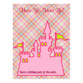 PRINCESS BIRTHDAY PARTY POSTCARD