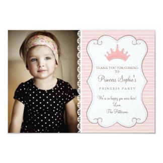 Princess Birthday Photo Thank You Card 9 Cm X 13 Cm Invitation Card